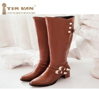 Womens Winter Thickening Fur Boots Shoes Plus Size 35 43 Scrub Black Beige Hidden Heels