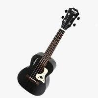 HOT 23 inch Black Starry Sky Concert Ukulele 4 AQUILA Strings Hawaiian mini Guitar Uku Acoustic Guitar Ukelele mahogany Uk2321