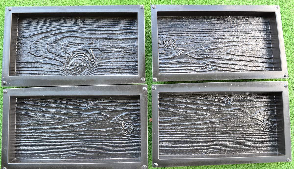 4 pezzo di plastica cemento pietra stampi mattoni pavimentazione in