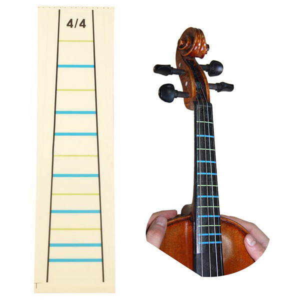 4/4 Violin Practice Fiddle Finger Guide Sticker Violino Fingerboard Fretboard Indicator Position Marker