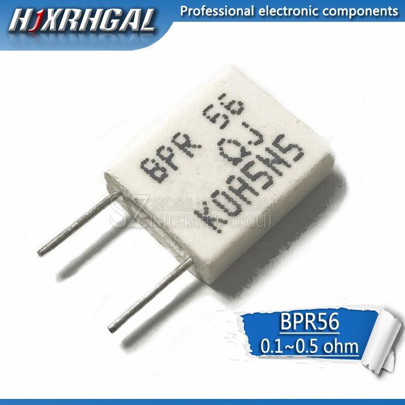 1PCS BPR56 5W 0.1 0.15 0.22 0.25 0.33 0.5 Ohm Non-inductive Ceramic Cement Resistor 0.1R 0.15R 0.22R 0.25R 0.33R 0.5R Hjxrhgal