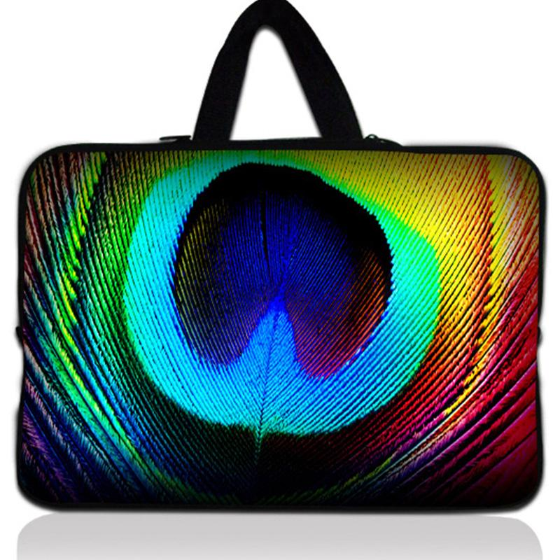17 inch Feather laptop sleeve bag Notebook case with handle PC handbag 17 17.3 17.4 Netbook Cover Pouch For Macbook Pro #