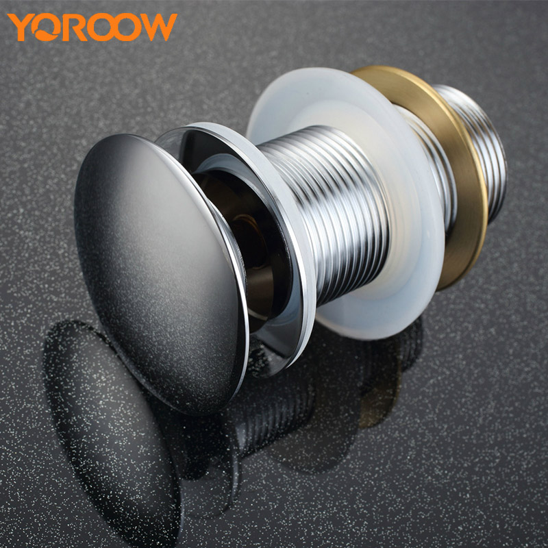 Bath Waste Pop Up Chrome Drain Strainer With Out Overflow Sink Free Shipping Bathroom Washbasin Round KD0005