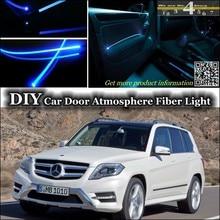 Для Mercedes Benz MB GLK 2008~ интерьерный светильник окружающей среды, настроенный атмосферный волоконно-оптический ленточный светильник s Дверная панель освещения
