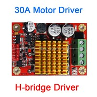 30A DC motor drive Module High Power motor speed Control H-bridge 12V 24V DC power supply