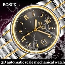 Bosck alta calidad tourbillon relojes de los hombres top marca de lujo de negocios impermeable relojes de los hombres mecánicos automáticos relojes de pulsera