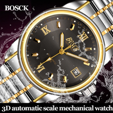 BOSCK High Quality Tourbillon Men Watches Top Brand Luxury Business Waterproof Watches Men Automatic Mechanical Wrist Watches