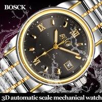 BOSCK High Quality Tourbillon Men Watches Top Brand Luxury Business Waterproof Watches Men Automatic Mechanical Wrist