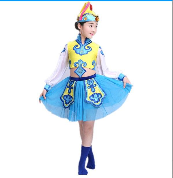 ced94c71a7d5 New children s dance costume Mongolian ethnic Tibetan clothing girls ...