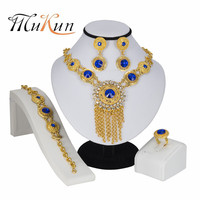 MUKUN 2018 Jewelry Set For Women Wedding Nigeria Imitation Crystal Necklace Set Gold Color African Dubai Jewelry Sets for gifts