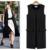 2016 otoño de la manera formal de breve elegante del chaleco del diseño largo femenino