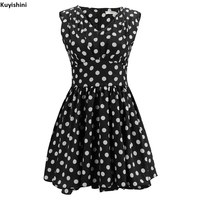 Plus Size XXL Summer Women Dress Vestidos Retro 50s 60s Vintage Dress Polka Dots Rockabilly Sexy