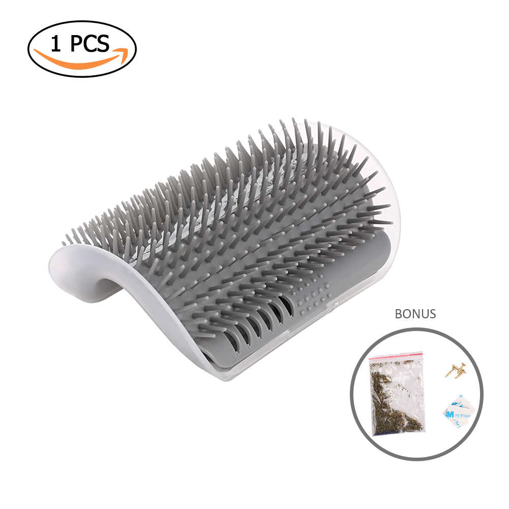 Pet Comb Cat Corner Scratching Rubbing Brush Pet Hair Removal Cat Massage Self Groomer Comb Brush Pet Grooming Cleaning Supplies