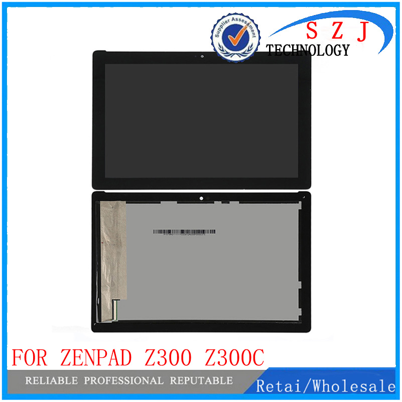 New 10.1 inch For ASUS ZenPad 10 Z300 Z300C P023 LCD Display Panel Touch Screen Assembly Replacement Green Cable for asus zenpad 10 z300 z300c z300cg p021 p023 z300c lcd display digitizer screen touch panel glass sensor assembly