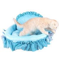 Pink Blue Princess Dog Cat Beds Removable Cove Small Dog House Warm Pet Sofa Washable Kennel