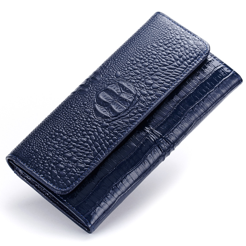 ФОТО Women Wallets Fashion Design High Quality Leather Wallet Female Hasp Purse Dollar Price Alligator Long Women Wallets And Purses