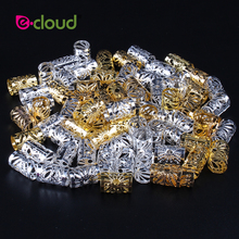 Wholesale 500Pcs 1000pcs/Pack Hair Styling Tools Dreadlock Hair Beads Adjustable Hair Cuff Clips 10mm Hole For Micro Hair Rings