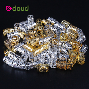 Image 1 - Wholesale 500Pcs 1000pcs/Pack Hair Styling Tools Dreadlock Hair Beads Adjustable Hair Cuff Clips 10mm Hole For Micro Hair Rings