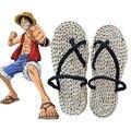 Envío gratis Anime japonés de una pieza del mono D Luffy Cosplay paja sandalias del deslizador de zapatos de estilo de verano