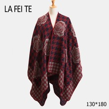 Cashmere Blanket Scarf Women Poncho Winter Warm  Pashmina Shawl Female Stoles Wool Long For