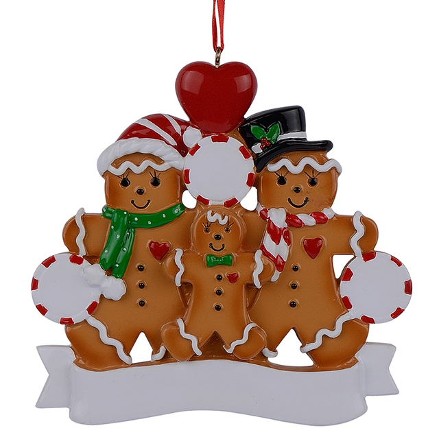 Christmas Decoration Wholesalers: Wholesale Resin Gingerbread Family Of 3 Christmas