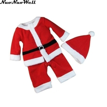 Christmas Gift Halloween Cosplay Costume Christmas Baby Boy Clothes 2-15 Year-old Newborn Baby Santa Claus Outfits Suit with Hat