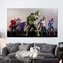 Marveles Avengers Endgame Character Spoof Canvas Poster Prints Wall Art Painting Decorative Picture For Modern Living Home Decor