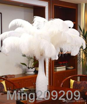 new 18-20 inch(45-50cm) white Ostrich Feather plumes for wedding centerpiece wedding party event decor festive decoration