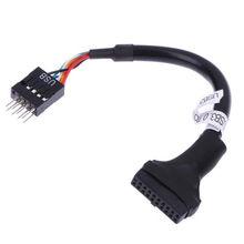 Cable adaptador USB 3,0 de 20 pines hembra a USB 2,0 9 pines macho 20 unids/pack