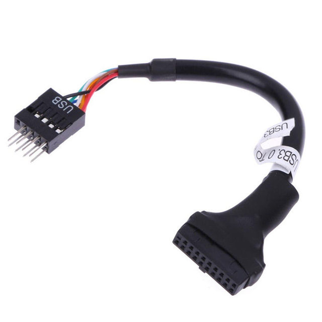 USB 3.0 20 Pin Motherboard Header Female To USB 2.0 9 Pin Male Adapter Cable 20Pieces/Pack