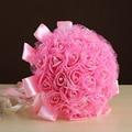 Ramo de la boda de dama de Honor flor rosa artificial ramos nupciales blancos