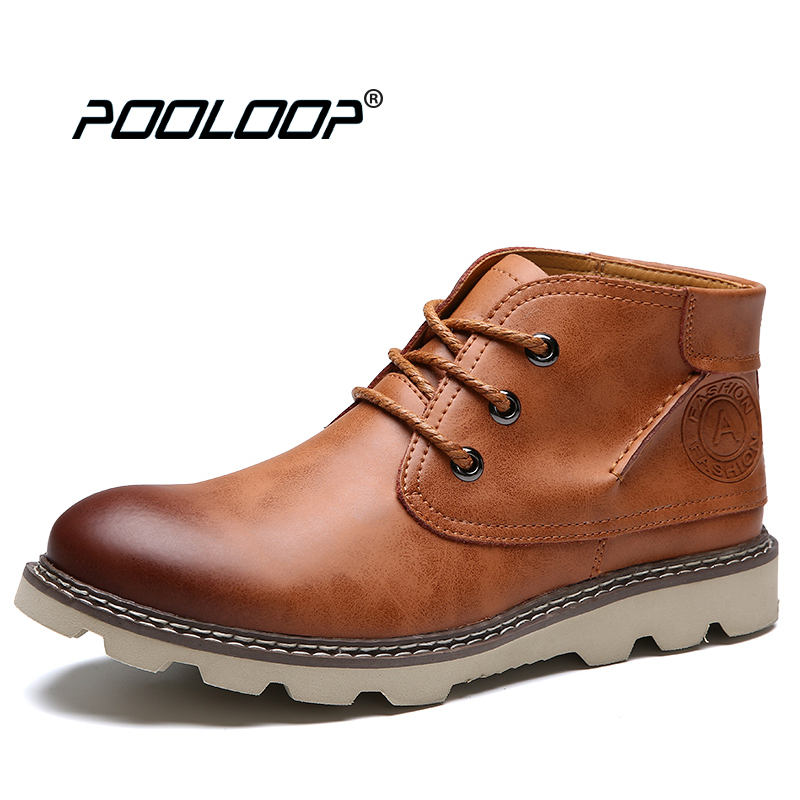 6bb1af9d773 US $39.49 40% OFF POOLOOP High Quality Fashion Boots Men Genuine Leather  Dress Shoes Waterproof Mens Ankle Boots Casual Party Black Booties Male-in  ...