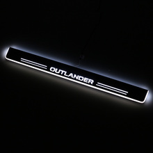 SNCN LED Car Scuff Plate Trim Pedal Door Sill Pathway Moving Welcome Light For Mitsubishi Outlander 2013-2015 2016 Accessories stainless ewb steel led scuff plate door outside sill sills trim car accessories welcome pedal led for lexus is 2013 2015