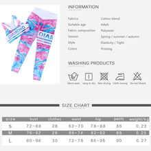 Floral Print Women Fitness Set Female Yuga Suit Tracksuit Workout Sexy Bar and High Waist Slim Push UP Leggings Sporting Clothes