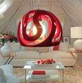 Morden resina criativo sala de jantar sala de estar pendente luz Dia 33/50 cm para hotel stair pendant light AC 90-265 V led e27