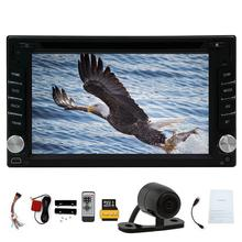 6.2 inch Double 2 din Car CD DVD Player car styling GPS MP4 Auto Stereo Radio USB SD Bluetooth In Dash+Free rear view camera