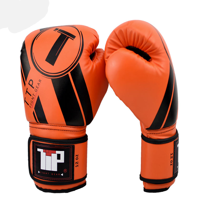 Boxing Gloves MMA Punching LEATHER Red Sparring 12 14 16 oz Supierior Quality!