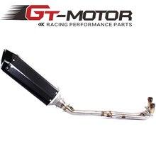GT Двигатель-выпускной полная система для Yamaha Tmax 500 530 T-MAX 2008-2016 с черной глушитель