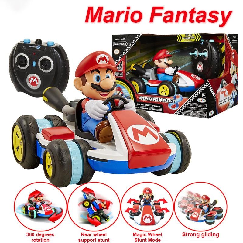 Electric super mario magic wheel Car RC car stunt car 360degree rotation Remote Control Cartoon Mario car Toys for Child Gift