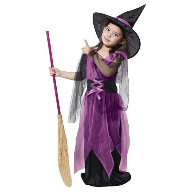 Halloween Party Witch Cosplay Dress for Girls