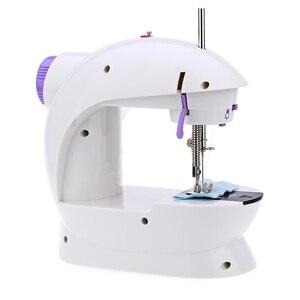 Image 2 - Mini macchina da cucire a pedale portatile Eworld, doppia velocità, doppio filo, multifunzione, elettrico, automatico, riavvolgimento del battistrada, macchina da cucire