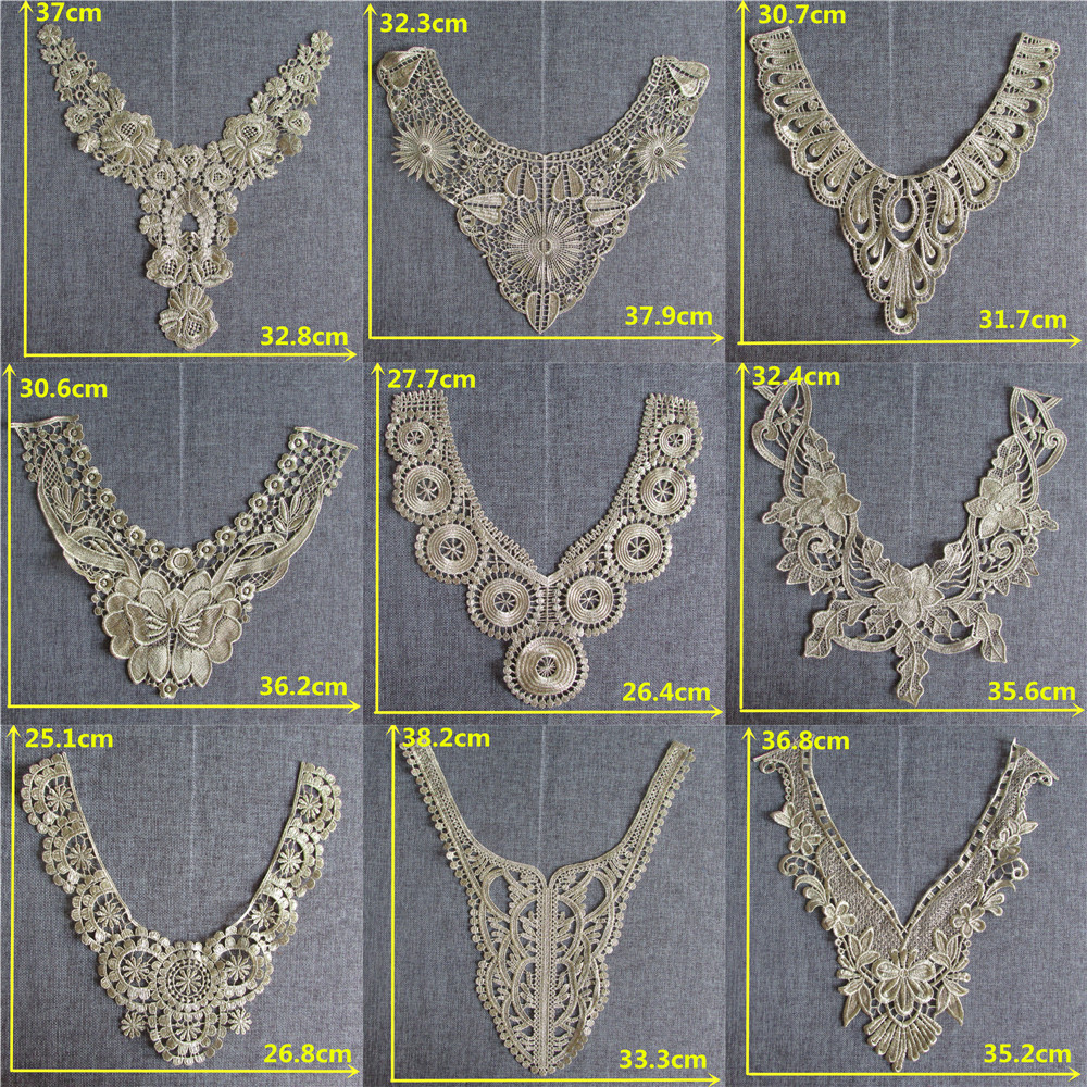 Arts,crafts & Sewing High Quality Flower Venise 3d Lace Collar Fashion Fabric Trim Ribbon Diy Embroidery Neckline Applique Sewing Costume Accessories Products Hot Sale