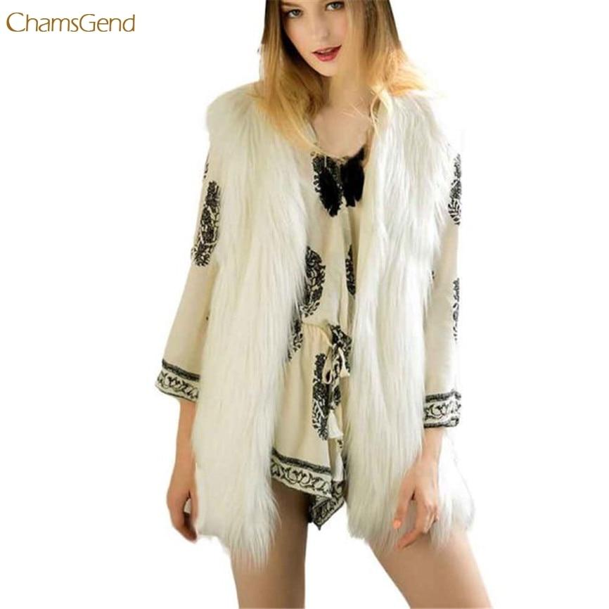 fix2017 HOT Sale WT Spring&Autumn Women Thin Jackets Tops Fashion Long Sleeveless Coat Outerwear Long Hair Jacket