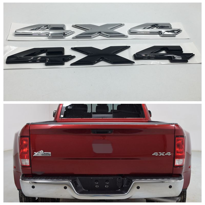DODGE RAM Bright Silver Metallic Clear Coat Tailgate R A M Letter Nameplates