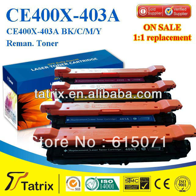 FREE DHL MAIL SHIPPING. CB403A Toner Cartridge ,Triple Test CB403A Toner Cartridge for HP toner Printer