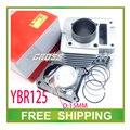 ybr125 yjm125 ybr yjm 125cc MOTORCYCLE CYLINDER HEAD gasket piston ring pin set 54mm accessories free shipping