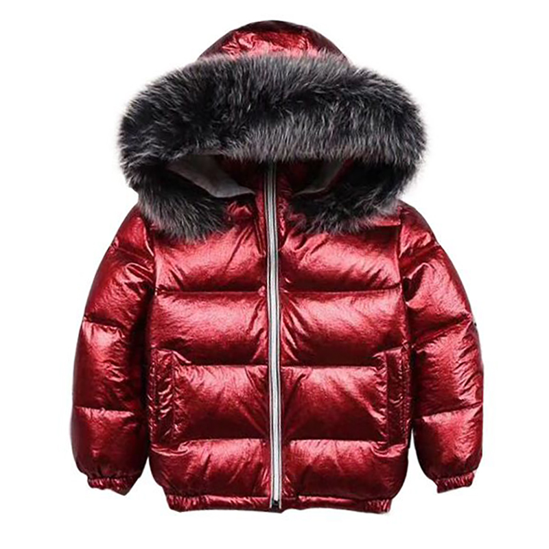 2018 Winter Coat For Kids Girls Down Parka With Fur Collar Warm Boys Hooded Jackets For Children Snowsuit Girls Down Jackets winter down jacket for girls long down coats fur hooded girls children winter coat fashion boys snowsuit thicken coat warm parka