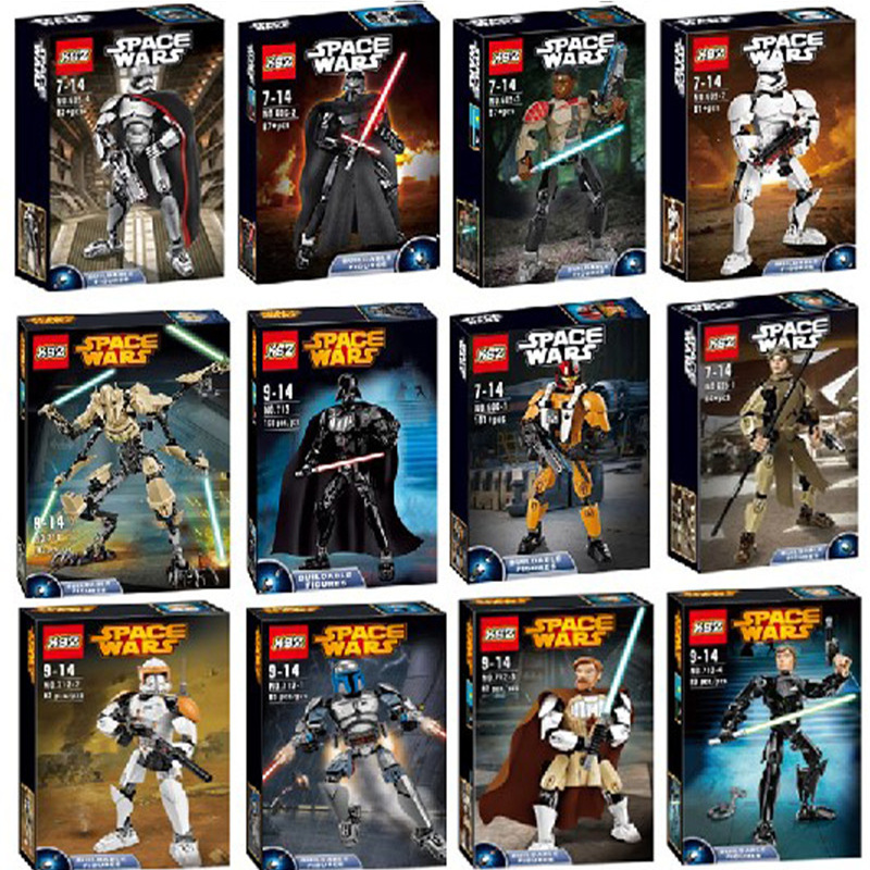KSZ Star Wars Super Heros Action Figure Gift Christmas gifts Compatible with 75107 75108 75109 75110
