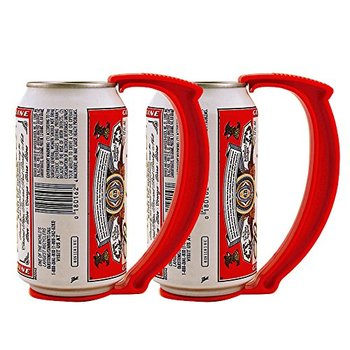 2PCS Party Can Grip Instantly Turns Can Into Mug Soda Handle 12 Ounce Can Bottle Handle Plastic Wine Beer Holder Kitchen Gardget 2 ounce ellipse shape wine pot