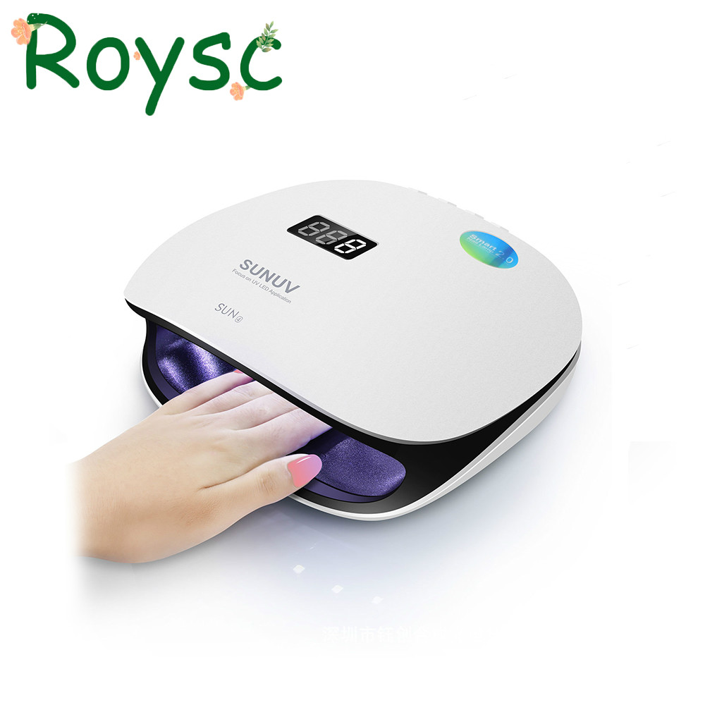 SUN4 48W UVLED Professional Smart Phototherapy Machine UVLED Nail Dryer Lamp for Curing Finger Toe Nail Gel Polish Manicure Tool жидкость domix green professional nail gel polish remuver